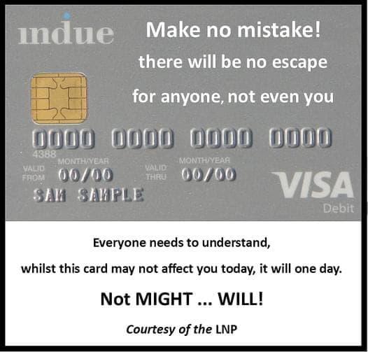 The Indue card the cashless welfare card